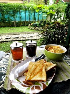 Breakfast by the garden