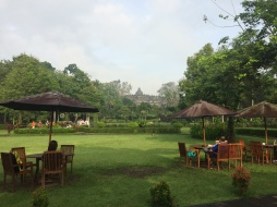 Breakfast in Borobudur Temple