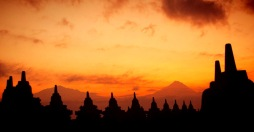 Sunrise in Borobudur Temple